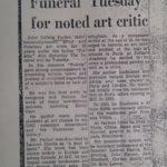 Funeral notice 1962