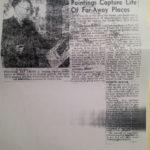 Article on Palette Exhibit, 1953